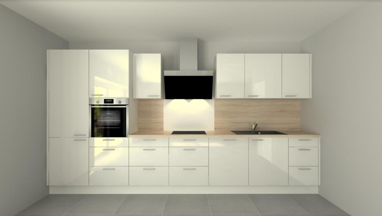 Einbauküche mit elektischen Geräten