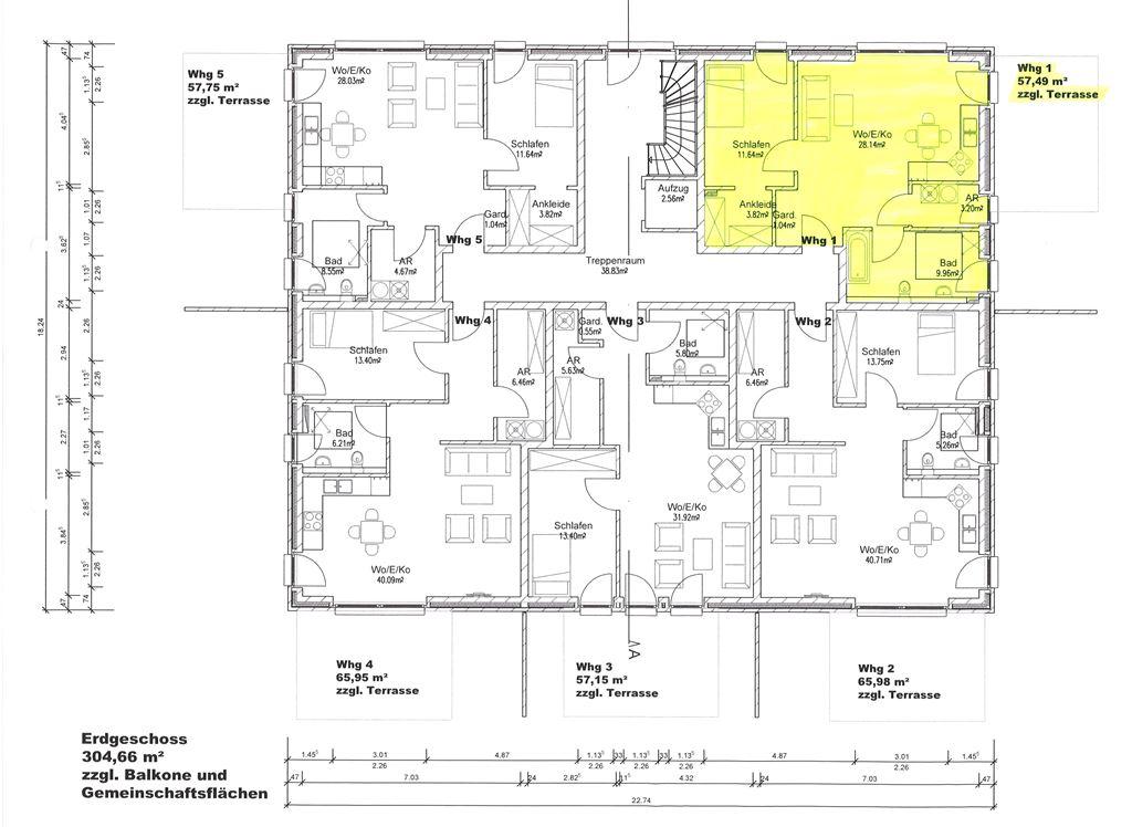 Erdgeschoss - Whg 1