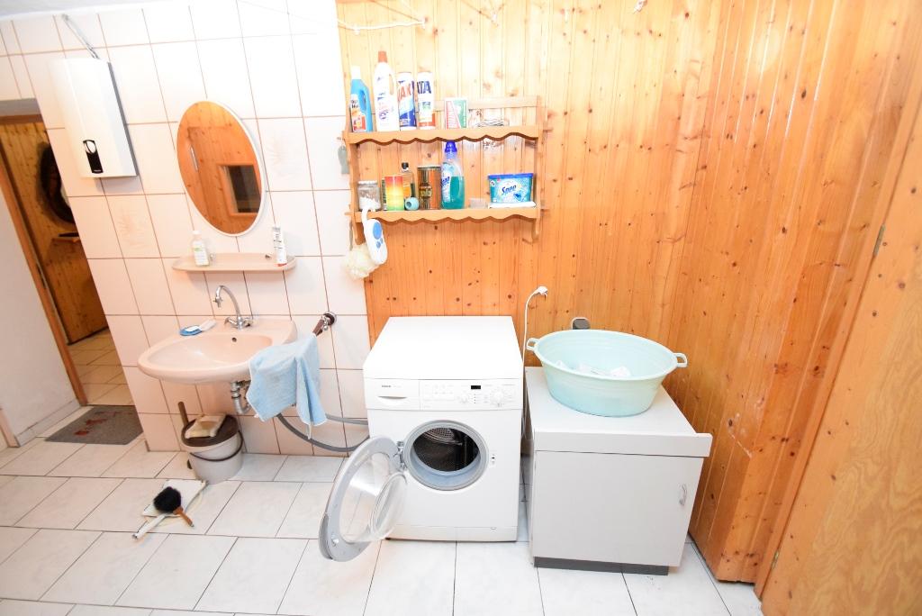 Anschluß für Waschmaschine und Trockner