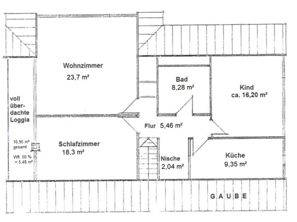 Grundriss Dachgeschoss_mit Flächen