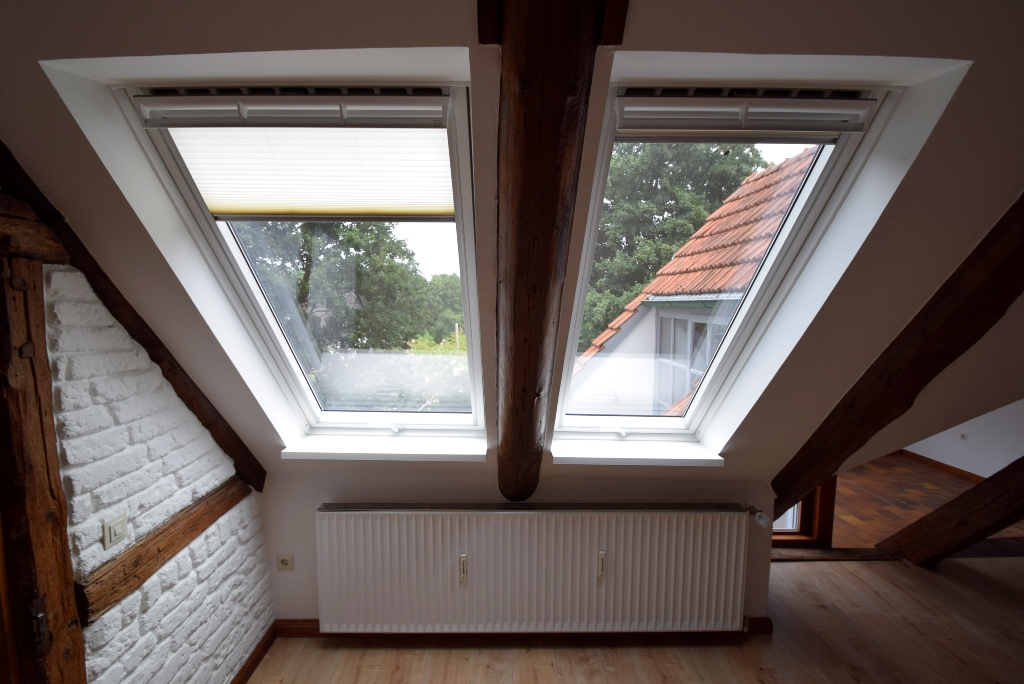 Plissees an den Dachflächenfenstern