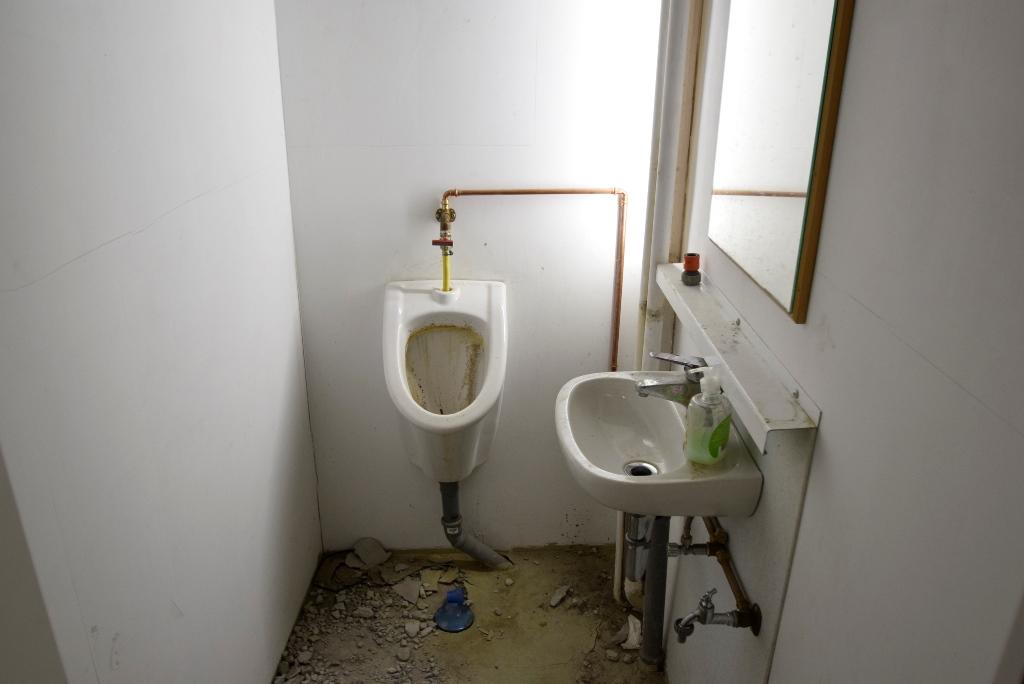 Herren-WC in der Halle