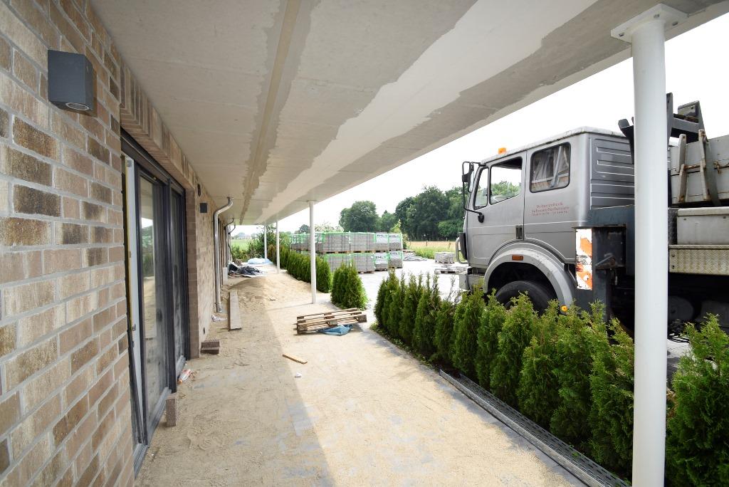 Die Terrassen nehmen Form an