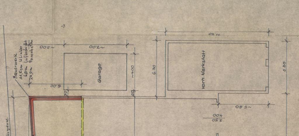 Grundriss Garage und Werkstatt