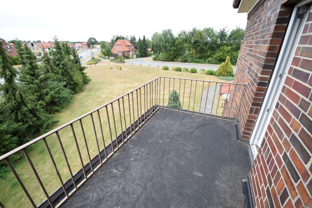 Kleiner Balkon über dem Hauseingang