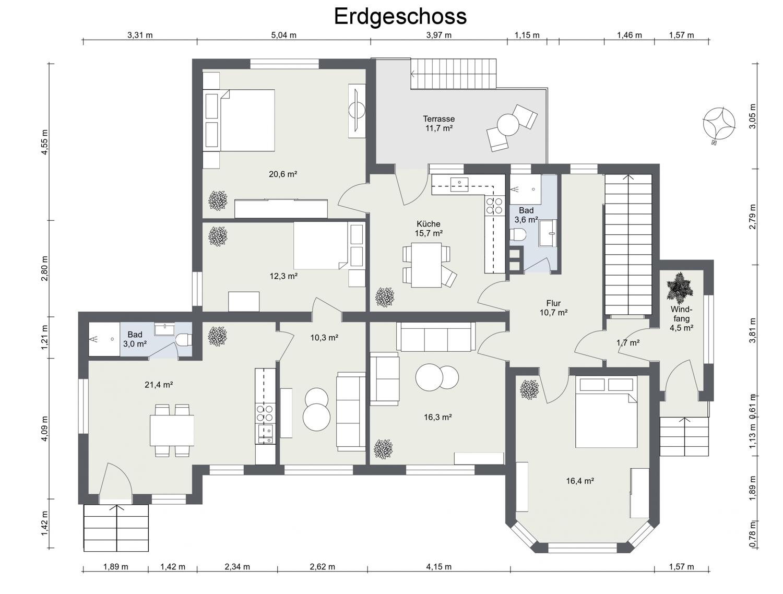 Erdgeschoss - 2D