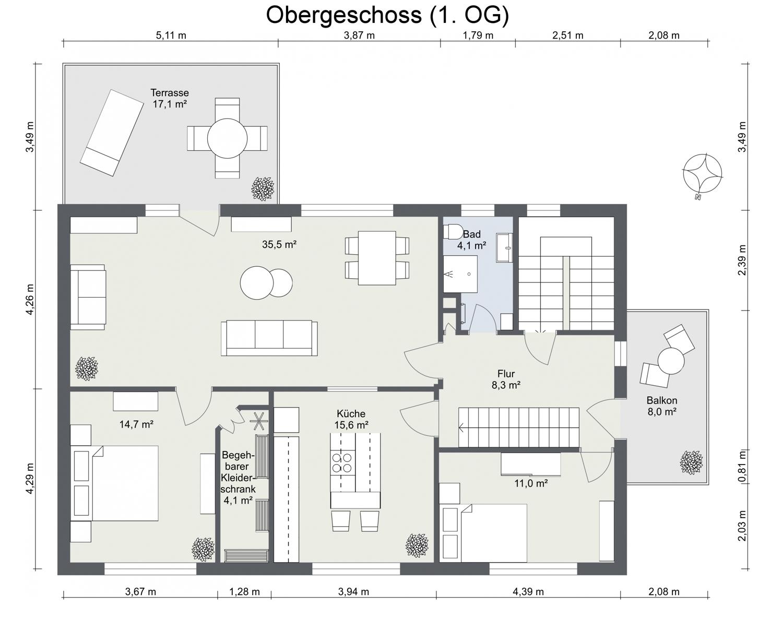 Obergeschoss (1. OG)
