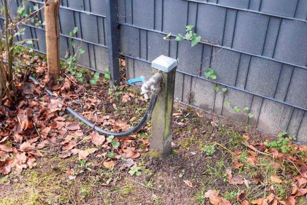 41. Wasseranschluss für die Gartenbewässerung