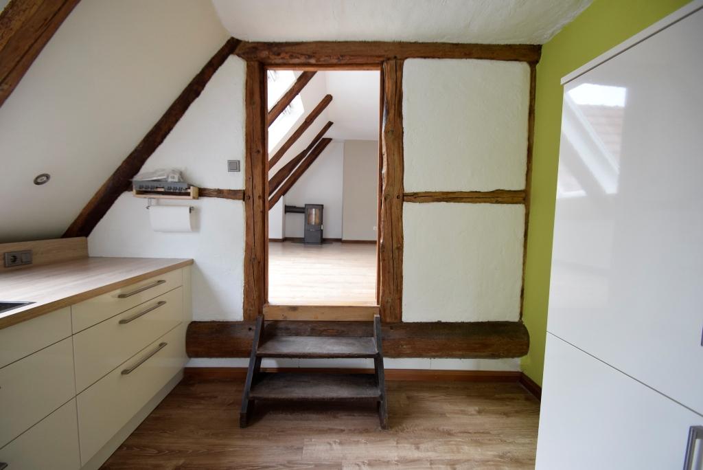 Durchgang zwischen Küche und Wohnzimmer