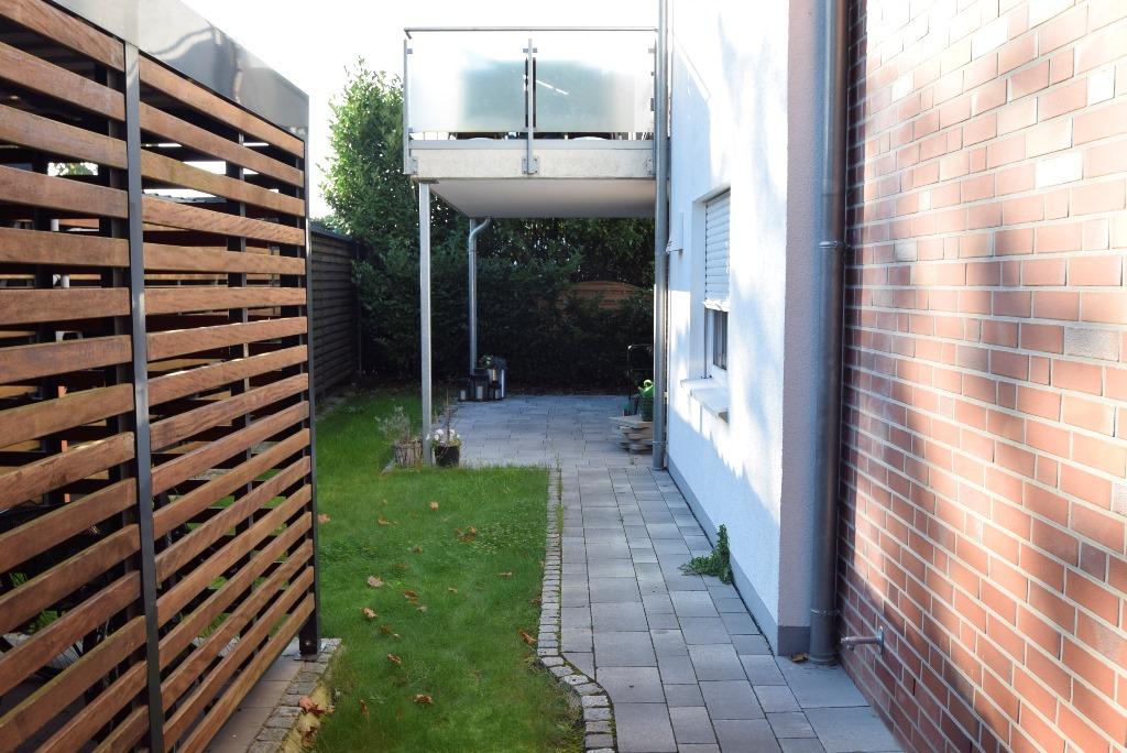 Zugang zur überdachten Terrasse