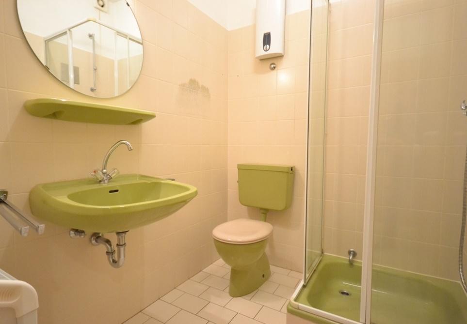 Badezimmer mit Dusche und Durchlauferhitzer