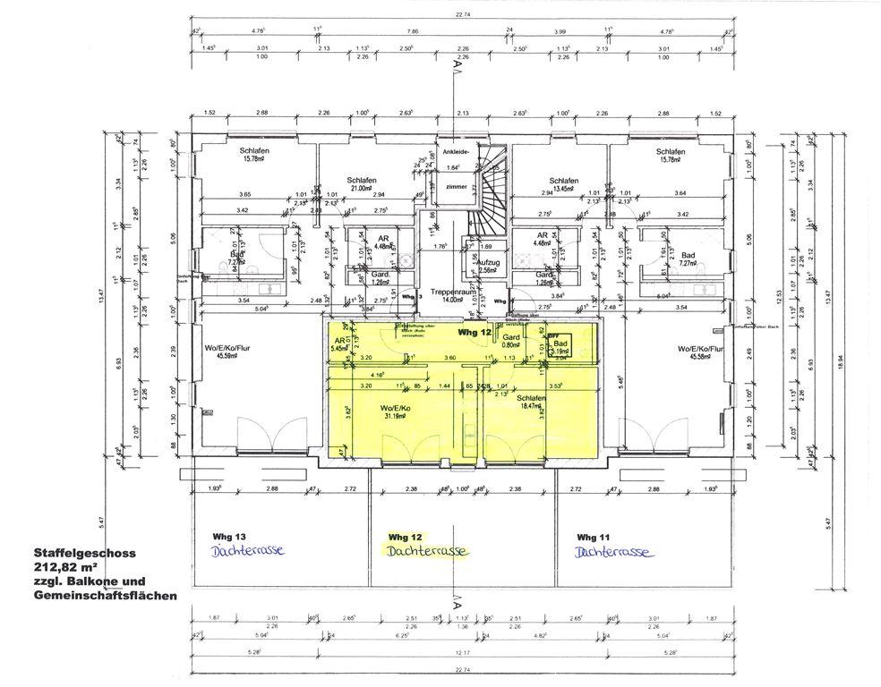 Dachgeschoss - Wohnung 12